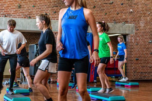 step fitness hold træning nordjyllands idrætshøjskole