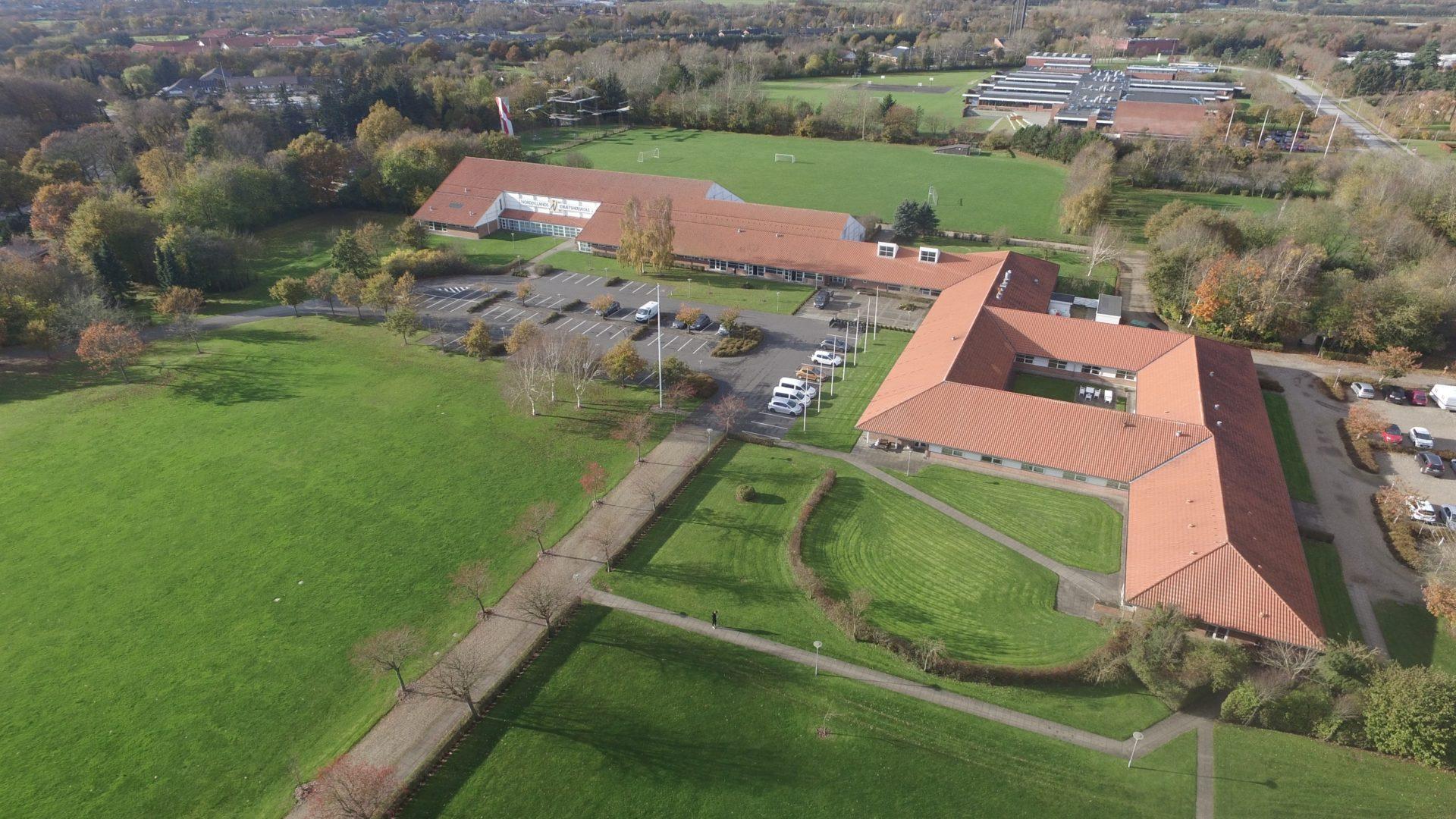 Nordjyllands Idrætshøjskole - luftfoto