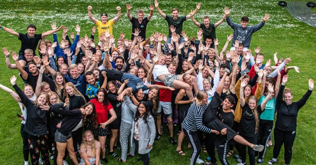 Elever på Nordjyllands Idrætshøjskole