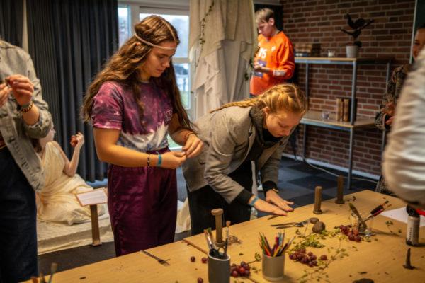 Venneweekend skulptur formning- Nordjyllands Idrætshøjskole