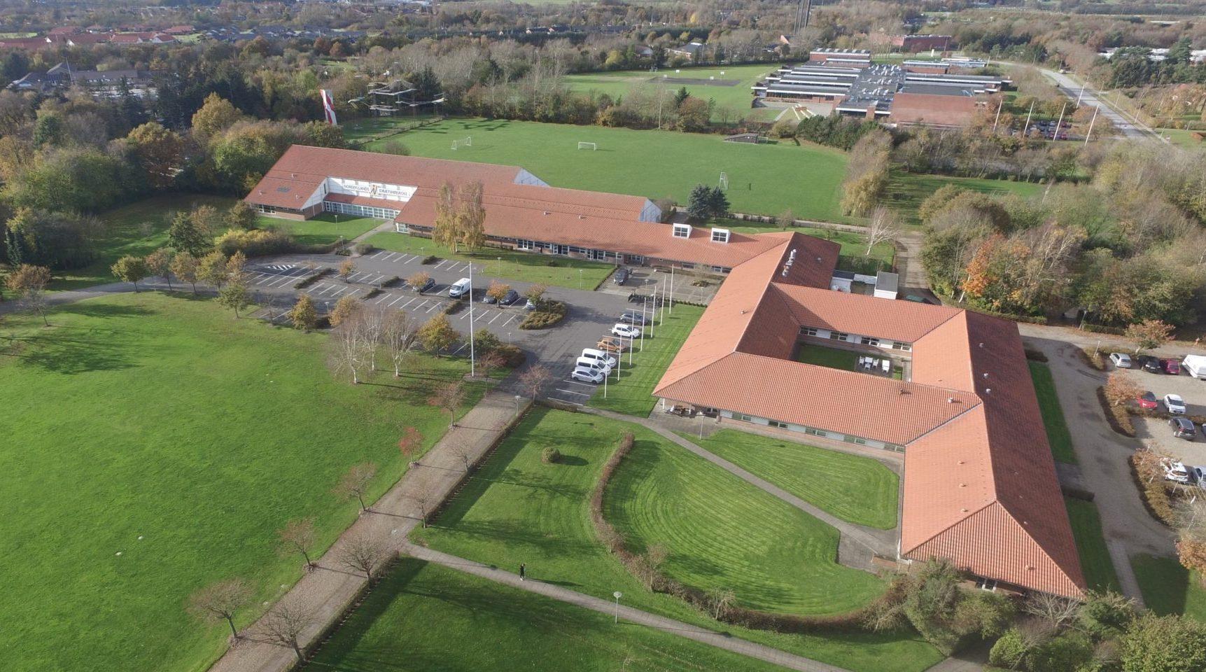 Luftfoto Nordjyllands Idrætshøjskole