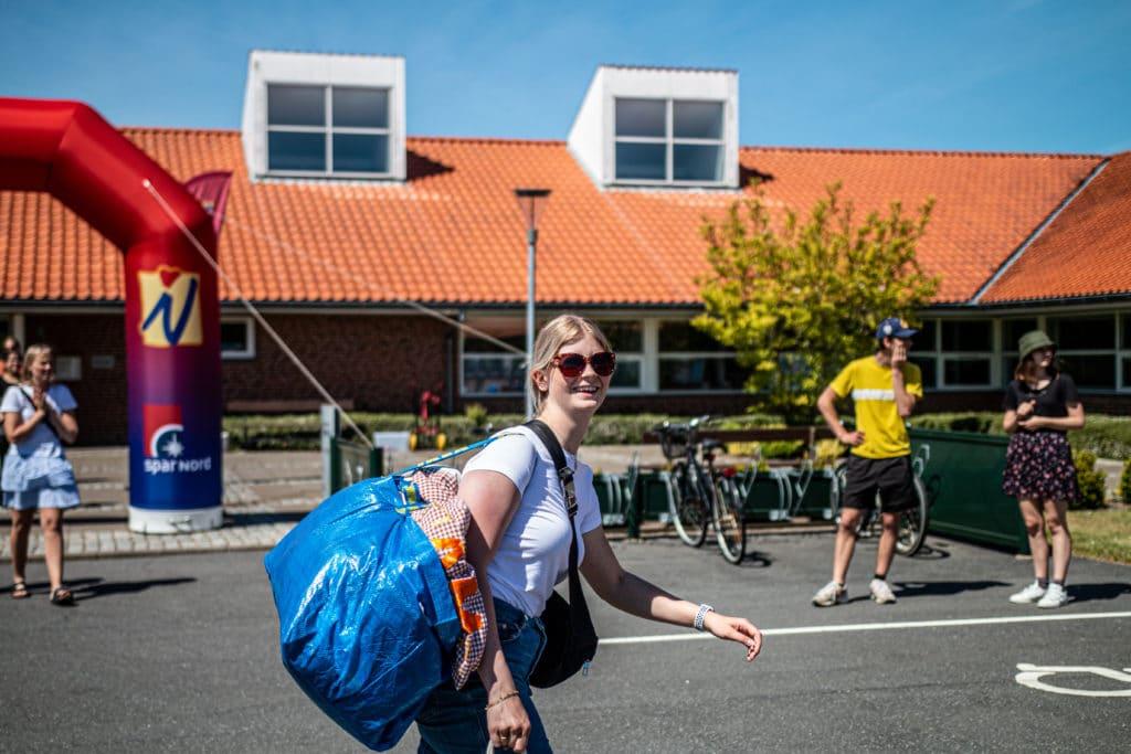 elev ankomst til Nordjyllands Idrætshøjskole